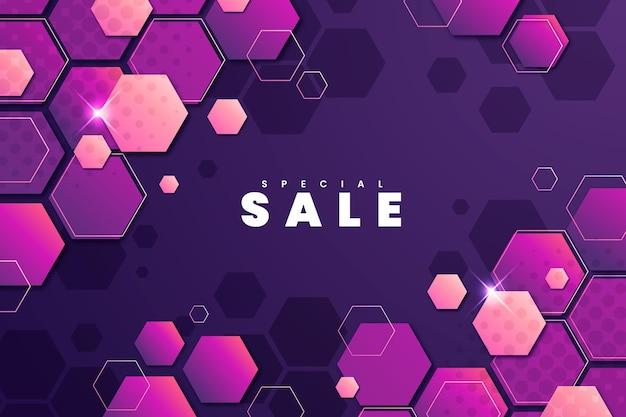 Fundo hexagonal gradiente com design especial de venda