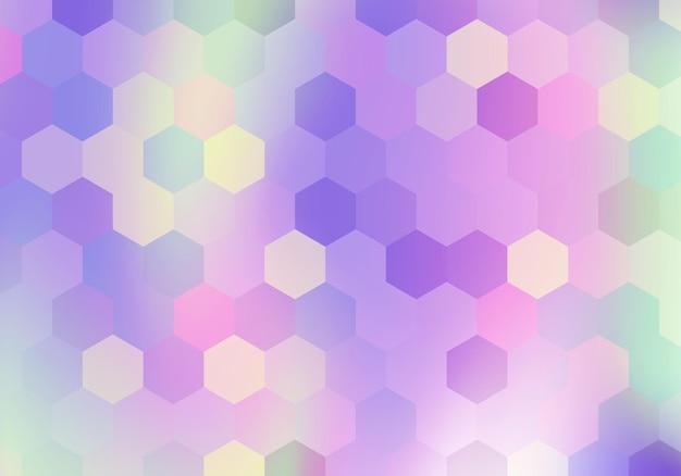 Fundo hexagonal gradiente. ilustração vetorial. fundo abstrato.