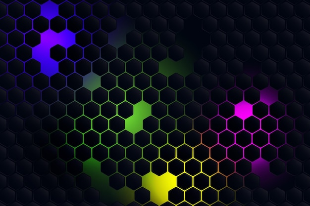 Fundo hexagonal gradiente