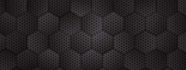 Fundo hexagonal metálico