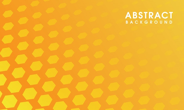 Fundo hexagonal mínimo amarelo
