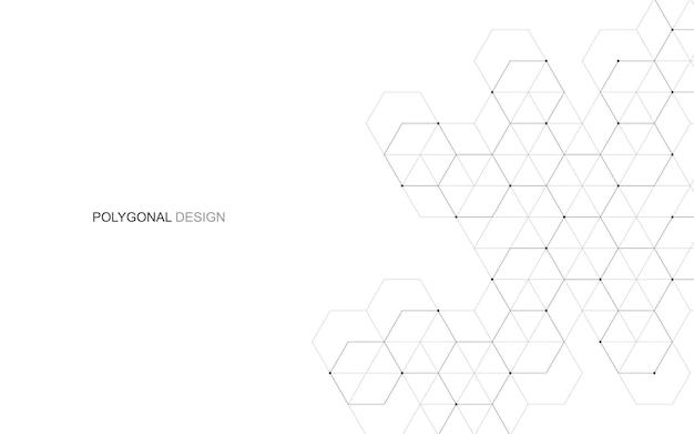 Fundo hexagonal