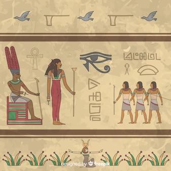 Fundo hieróglifo do egito