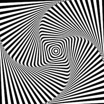Fundo hipnótico preto e branco
