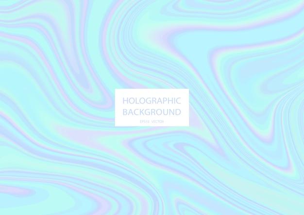 Fundo holográfico abstrato com cores pastel. .