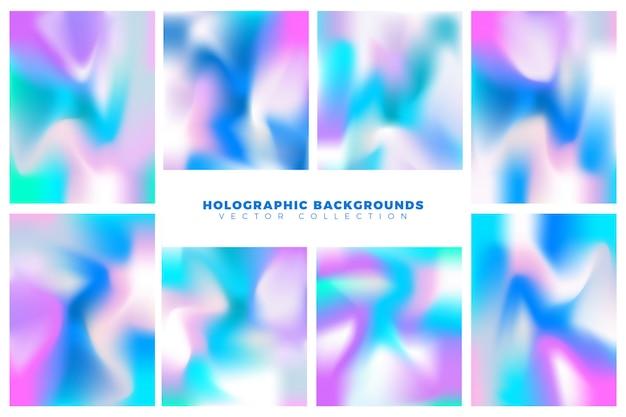 Fundo holográfico colorido