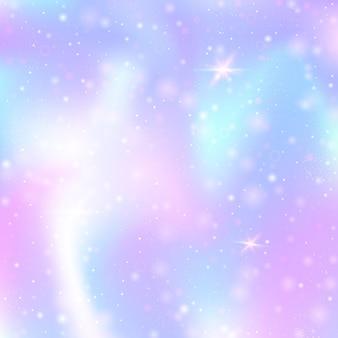 Fundo holográfico com malha de arco-íris.
