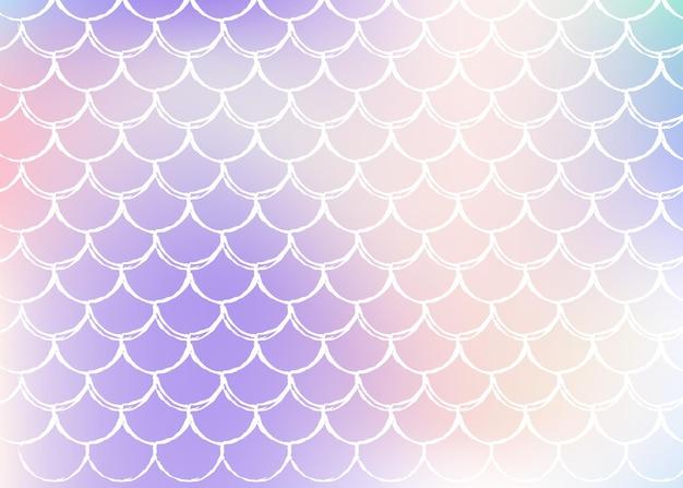 Fundo holográfico de sereia com gradiente de cor