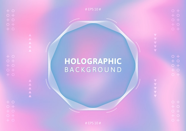 Fundo holográfico em cor pastel. legal abstrato colorido.