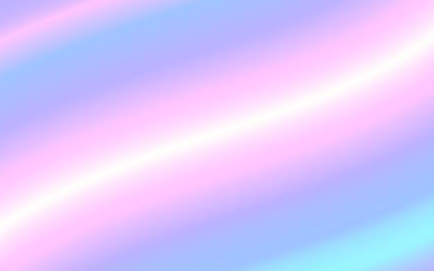 Fundo holográfico gradiente malha vector. textura pastel arco-íris