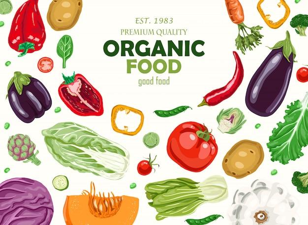 Fundo horizontal com legumes.