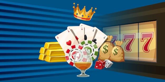 Fundo horizontal de jogos de cassino