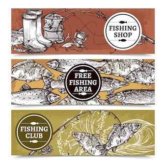 Fundo horizontal de pesca