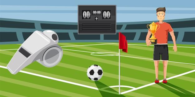 Fundo horizontal de pontuação de futebol