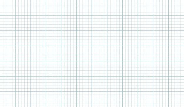 Fundo horizontal de vetor de textura de folha de papel de grade, modelo de papel grahp para planos de arquiteto