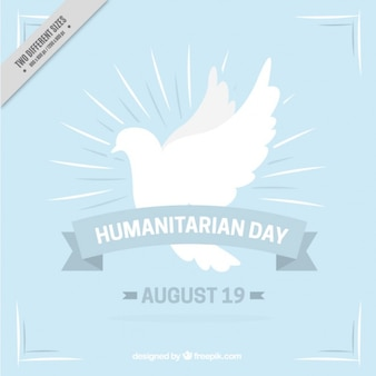 Fundo humanitário com símbolo de paz