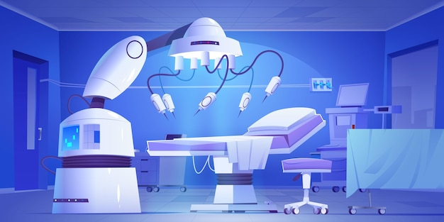 Fundo ilustrado de laboratório cirúrgico