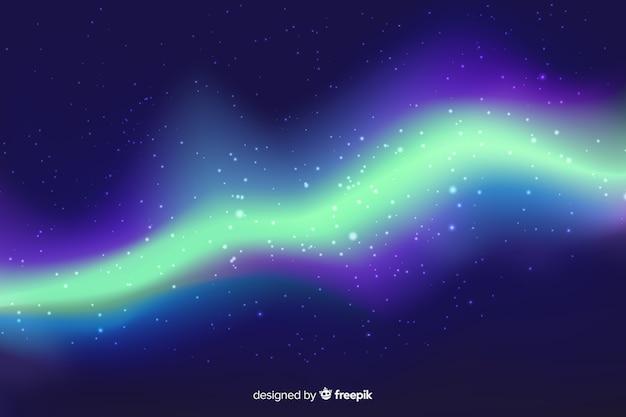 Fundo incrível da aurora boreal