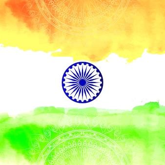 Fundo indiano abstrato do estilo da aguarela da bandeira indiana