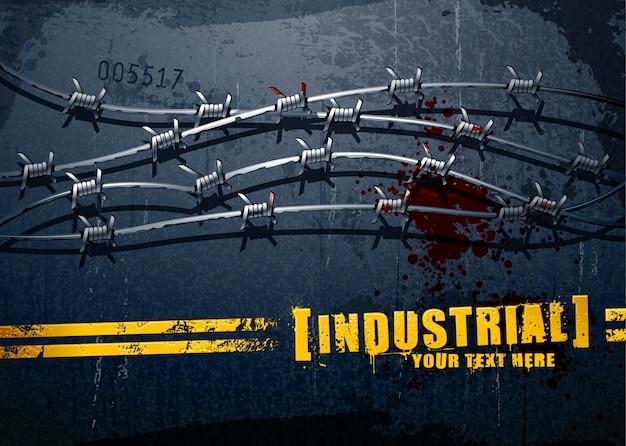 Fundo industrial do grunge