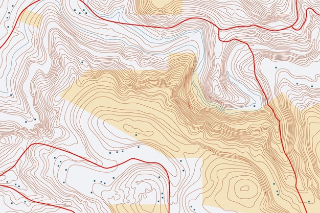 Fundo interessante do mapa topográfico