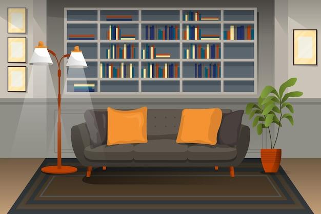 Fundo interior de casa para videoconferência