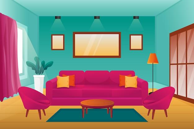 Fundo interior doméstico para videoconferência