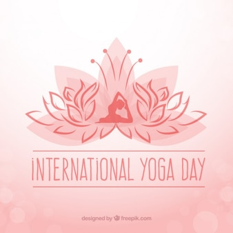 Fundo interntonal dia ioga com símbolo