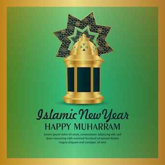 Fundo islâmico da celebração do ano novo