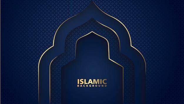 Fundo islâmico de luxo com design elegante