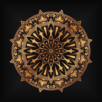 Fundo islâmico de mandala de luxo