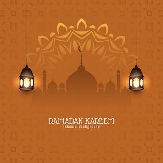 Fundo islâmico decorativo de ramadan kareem