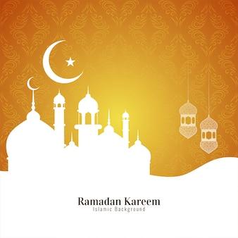 Fundo islâmico do festival de ramadan kareem