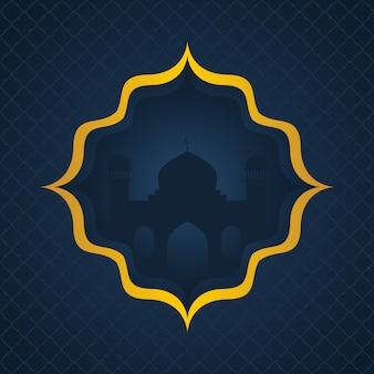Fundo islâmico escuro