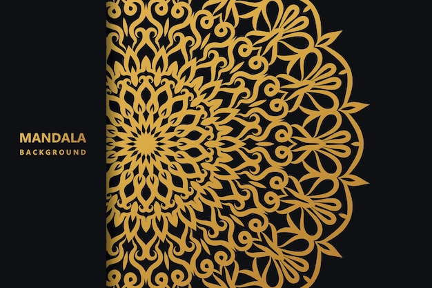 Fundo islâmico mandal com estilo étnico elegante