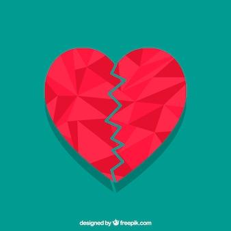 Fundo isolado plano do coração