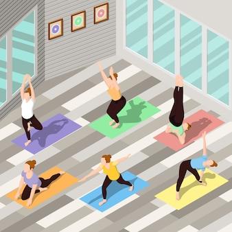 Fundo isométrico de ioga