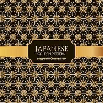 Fundo japonês com ornamentos