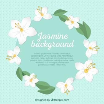 Fundo jasmine com design circular