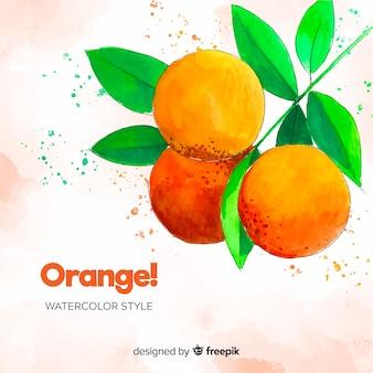 Fundo laranja aquarela