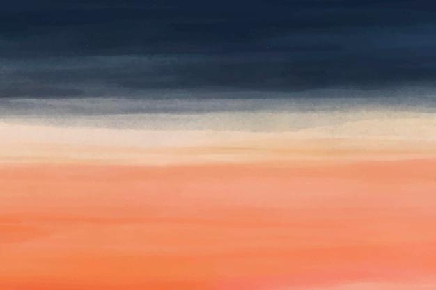Fundo laranja azul aquarela, vetor de design abstrato de papel de parede de área de trabalho