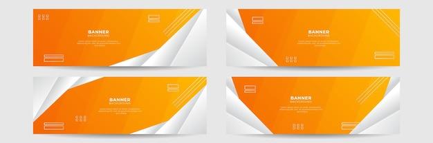 Fundo laranja banner abstrato. modelo de conferência de negócios. banner de vetor vibrante amarelo alaranjado para promoção de eventos em mídias sociais