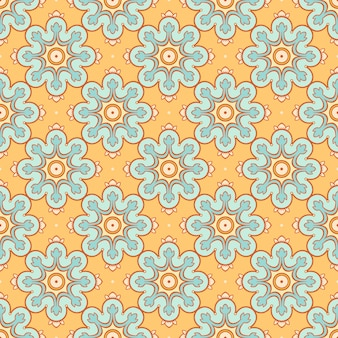 Fundo laranja com flores azuis