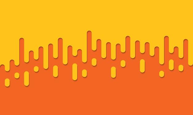 Fundo laranja com linhas arredondadas. ilustração.