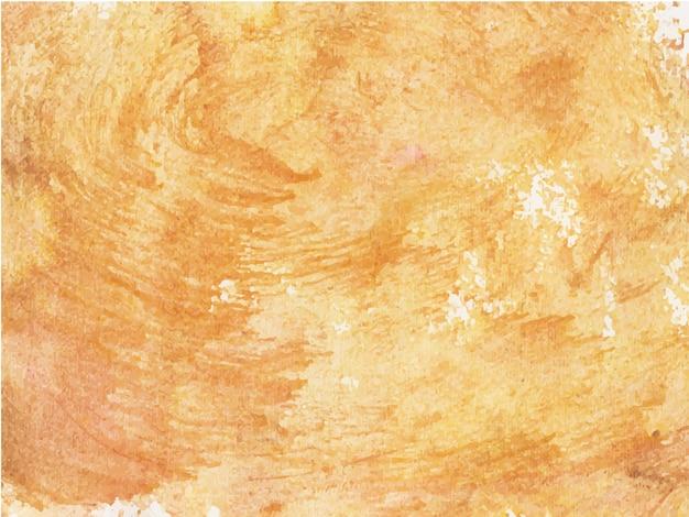 Fundo laranja com texturas de aquarela abstratas em papel branco