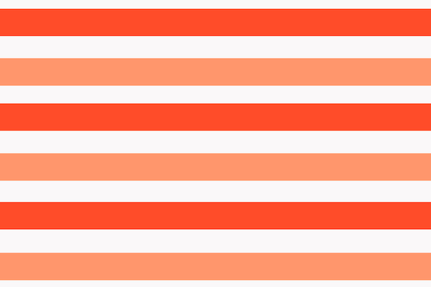 Fundo laranja listrado, padrão colorido, vetor de design fofo