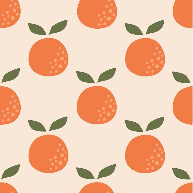 Fundo laranja padrão mídia social postar ilustração vetorial de frutas