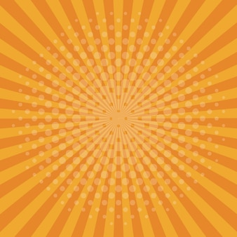 Fundo laranja pop art