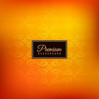Fundo laranja premium elegante bonito