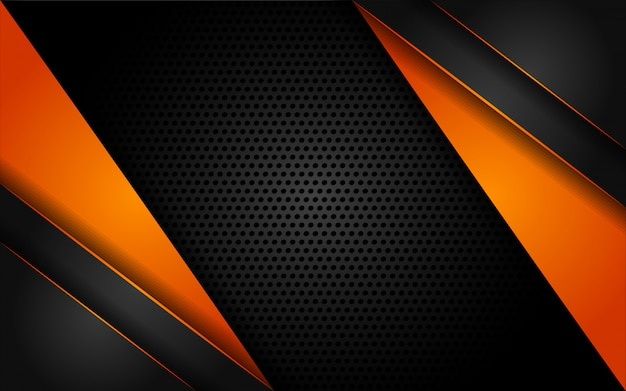Fundo laranja tecnologia moderna com estilo abstrato
